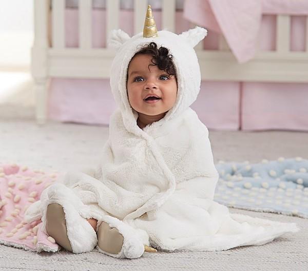 Nursery Fur Unicorn Bath Wrap