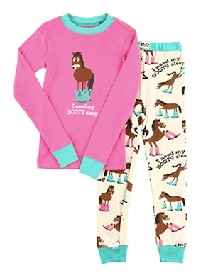 Booty Girls Horse Theme Sleep Pajama Sets