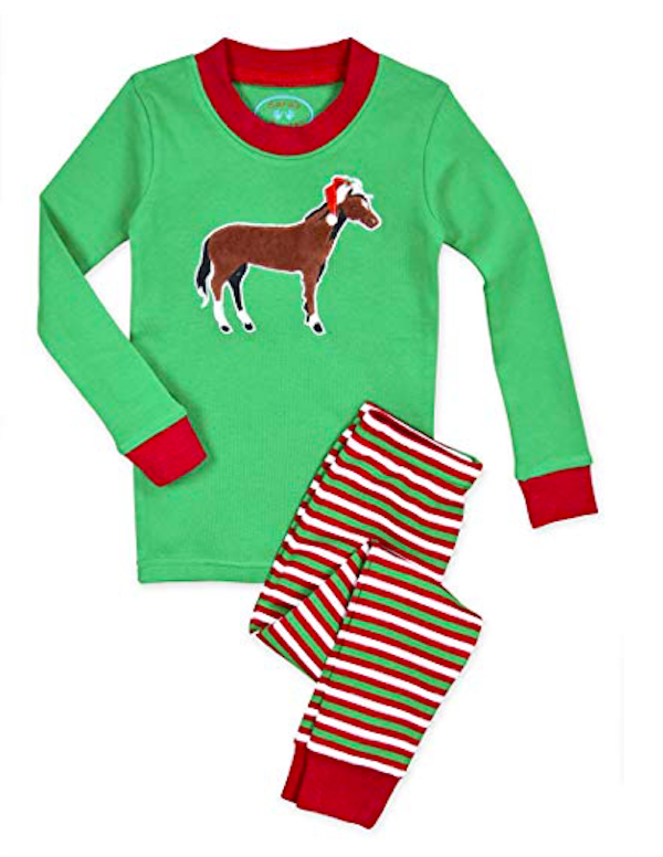 Kids Christmas Jammies with Horses
