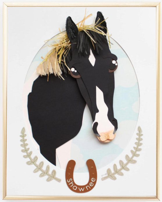 Paper Horse Portrait