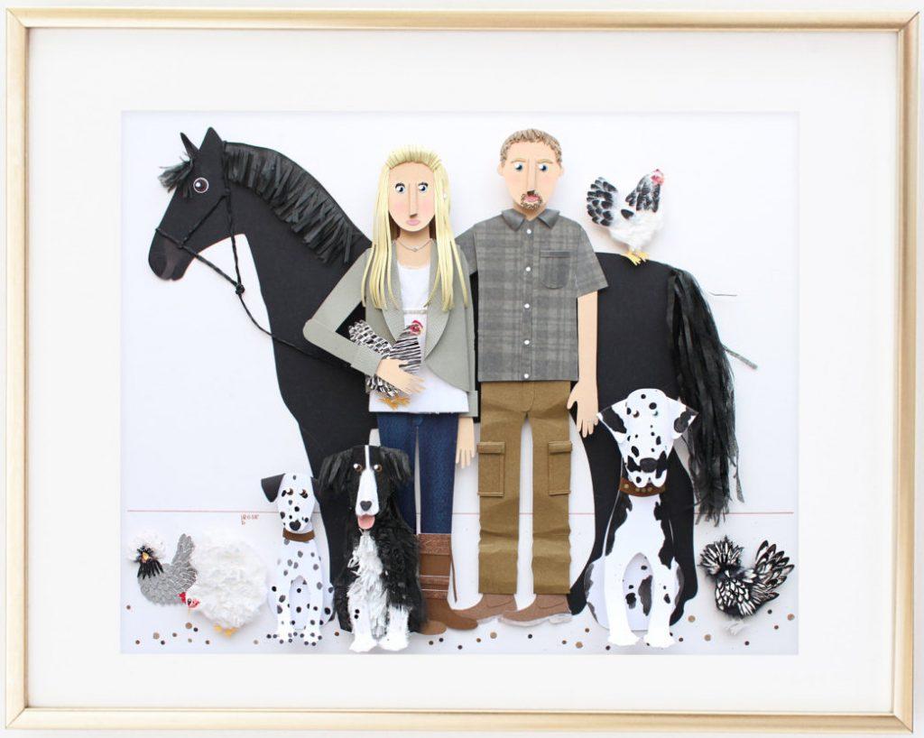 Paper Family Farm Portrait