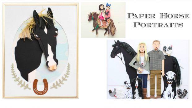Paper Horse Portraits