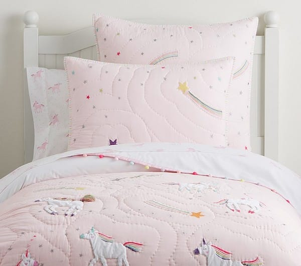 Rainbow Unicorn Quilt and Bedding