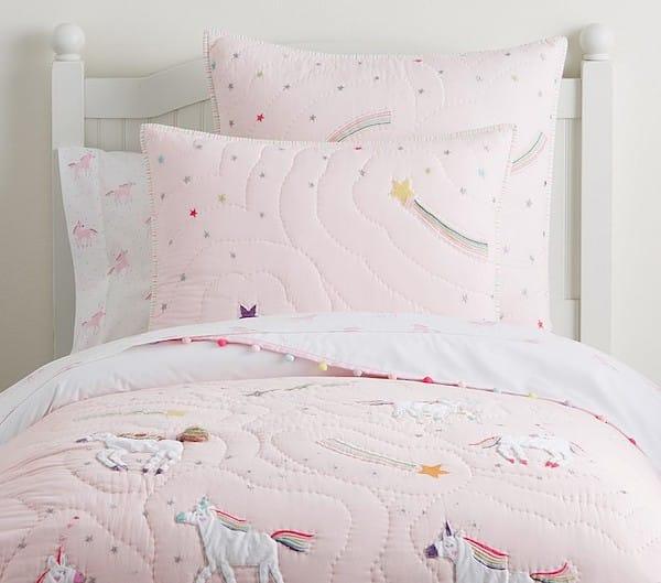 Rainbow Unicorn Quilt and Bedding