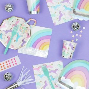 Magical unicorns and rainbows party supplies