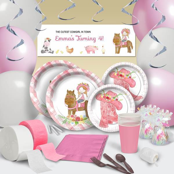 COWGIRL CUTIE ULTIMATE PARTY Supplies