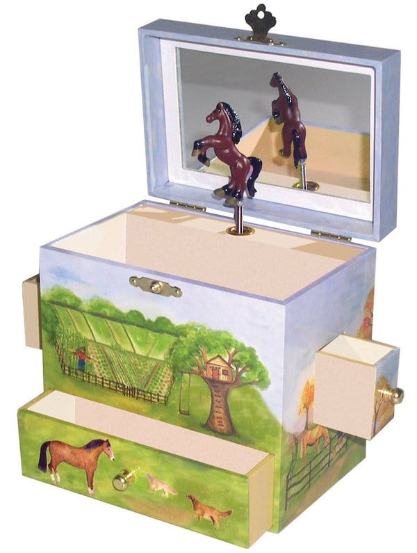Horse Ranch Music Jewelry Box