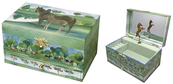 Horses Normandy Musical Jewelry Box