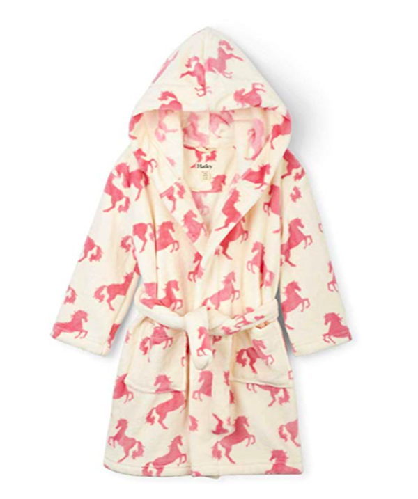 Playful Horses Comfy Fleece Robe