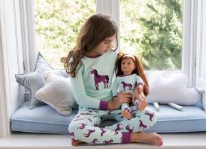 Matching Girl and Doll Unicorn Pajamas
