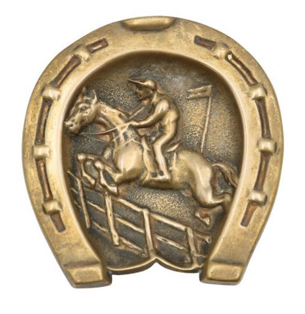 Antique Equestrian Coin Dish