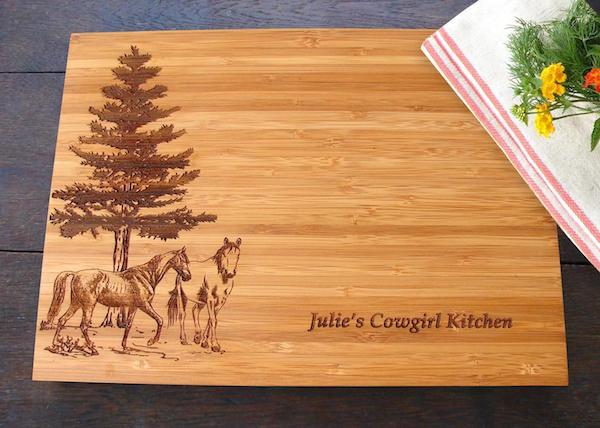 Horse Lovers Custom Cutting Board