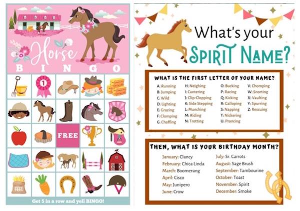 Horse Printable Games