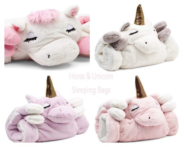 Horse and Unicorn Sleeping Bags