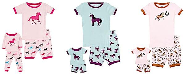 Matching Doll & Girls Horse Pajamas