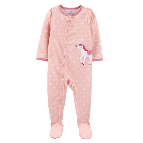 Baby Footie Horse Pajamas