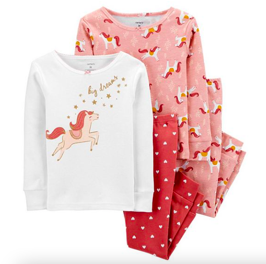 Girls Snug Fit Cotton Horse PJs