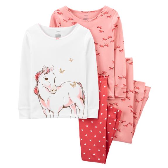 Kids Snug Fit Cotton Horse PJs
